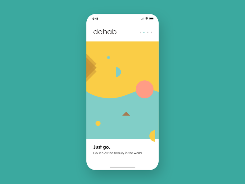 Travel App illustation mobile app uidesign minimal art clean app mountains natural sun beauty user interface design dahab travel iphone x ios app ui  ux