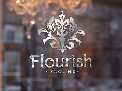 Flourish - Ornate Logo cosmetic fashion brand boutique logo beauty logo brand design feminine logo luxury brand ornament branding vintage logo luxury logo logo design
