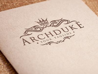 Archduke - Luxury Logo feminine logo monogram logo brand identity luxury brand boutique logo real estate logo classic ornament branding vintage logo luxury logo logo design