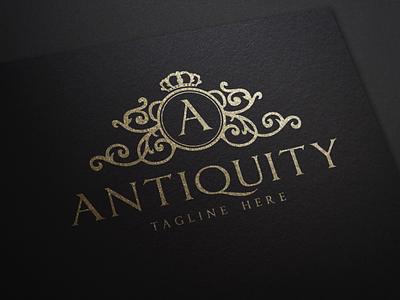 Antiquity - Elegant Logo real estate logo ornament beauty logo feminine logo luxury brand monogram branding elegant logo vintage logo logo design brand design luxury logo