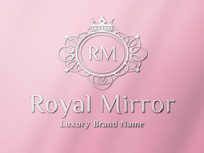 RoyalMirror - Vintage Logo brand identity feminine ornament brand design branding fashion brand beauty logo monogram logo feminine logo vintage logo luxury logo logo design