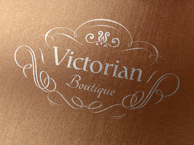 Victorian - Vintage Logo ornament fashion brand branding brand design brand identity luxury brand boutique logo beauty logo feminine logo vintage logo luxury logo logo design