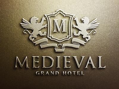 Medieval - Crest Logo brand design monogram logo brand identity real estate logo lion logo shield logo luxury brand heraldry branding luxury logo crest logo vintage logo logo design