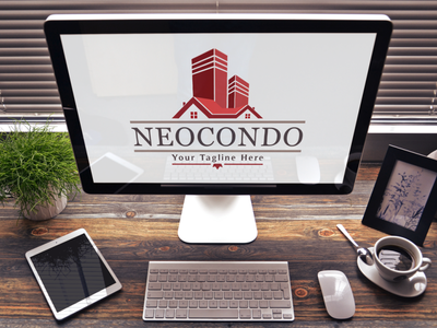 Neocondo - Real Estate Logo modern logo home brand identity apartment design luxury logo property developer broker agency house logo real estate branding brand design logo design
