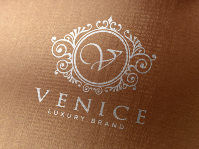 Venice - Elegant Logo classic boutique logo luxury brand fashion brand beauty logo feminine logo monogram logo ornament vintage logo branding elegant logo luxury logo logo design