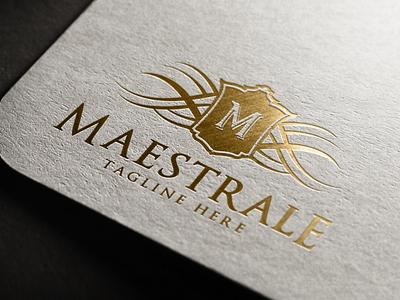 Maestrale - Crest Logo shield logo ornament luxury brand real estate logo branding heraldry luxury logo crest logo vintage logo monogram logo brand design logo design