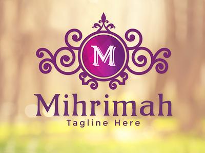 Mihrimah - Elegant Logo feminine boutique logo luxury brand fashion brand beauty logo elegant logo feminine logo monogram logo ornament vintage logo branding luxury logo logo design