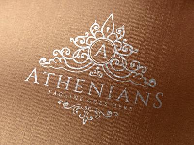 Athenians - Luxury Logo crest logo monogram logo ornament luxury brand vintage logo brand design boutique logo beauty app feminine logo branding luxury logo logo design