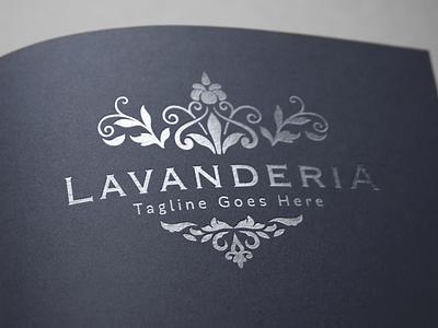 Lavanderia - Luxury Logo luxury brand elegant logo fashion brand brand identity branding flower logo beauty logo feminine logo ornament luxury logo vintage logo logo design