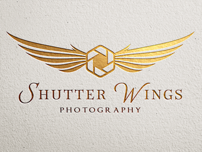 ShutterWings Photography Logo photography aerial photography drone logo agency logo photographer elegant logo branding luxury logo brand identity camera logo wings logo brand design photography logo logo design