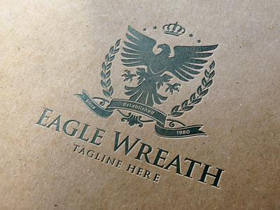 Eagle Heraldry Logo real estate logo brand identity crest logo classic luxury brand heraldry vintage logo eagle logo luxury logo branding logo design