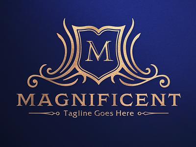 Magnificent - Luxury Logo shield logo brand identity monogram logo real estate logo branding heraldry crest logo brand design vintage logo luxury logo logo design