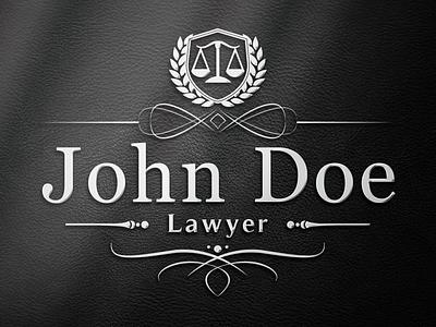 Lawyer Logo Design classic luxury brand branding brand design legal adviser attorney law firm scales of justice crest logo brand identity luxury logo logo design lawyer logo