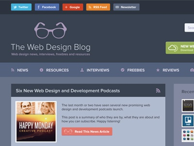 The Web Design Blog Designs Themes Templates And Downloadable Graphic Elements On Dribbble