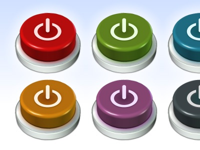 Multicoloured Buttons multicoloured buttons 3d push press reset