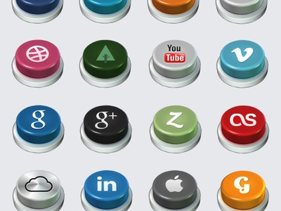 Social Buttons social buttons facebook twitter rss dribbble forrst youtube