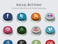 Social buttons preview