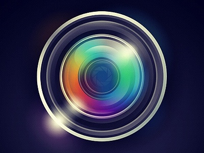 final camera lens logo design by phil matthews dribbble