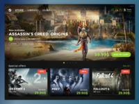 Steam Redesign - Games Platform