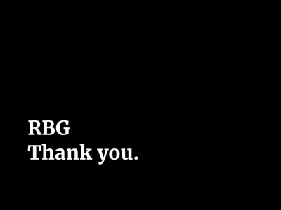RBG Thank you rbg