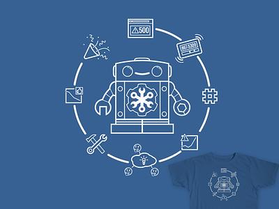 Cog Monitoring Shirt devops monitorama operable chatbot slack hurray pager monitoring cog robot