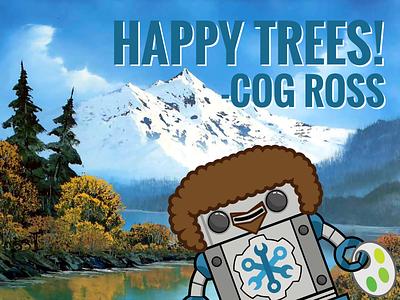 Cog Ross Halloween happy trees operable cog ross bob ross halloween chatops