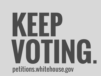 Keep Voting petitions white house voting