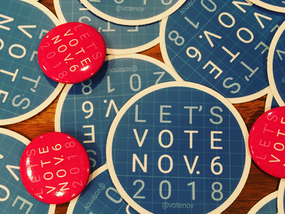 VoteNov Stickers and Buttons social cause buttons stickers vote november