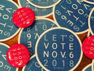 VoteNov Stickers and Buttons