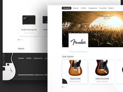 Fender Website - Redesign stratocaster telecaster website ui design homepage guitar fender