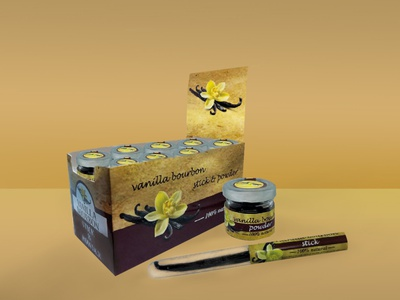 Design Packaging & Labels for Vanilla Sticks and Powder design label packaging design