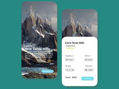 Toursit App Design vector icon web ux ui design app