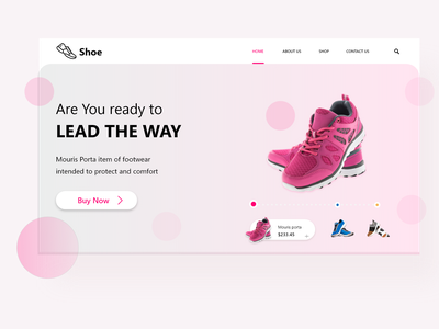 Home page online shopping Site Page branding web ux ui design app