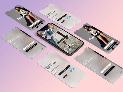 Fashion App Design application app design app ux ui design