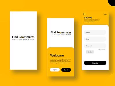 Roommate App design application app design ux ui design app