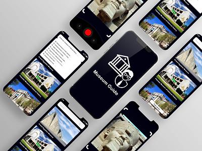 Museum Guide app application app design ux ui design app