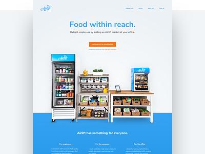 Airlift landing page web design web responsive web responsive airlift food marketing landing page ui