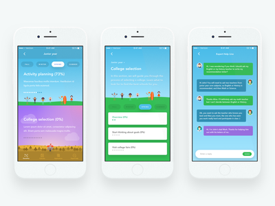 Market validation screens validation study survey test vector illustration chat iphone ux ui ios