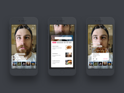 Live video collaboration & planning ios selfie call video chat icons schedule plan prototyping mobile ux ui