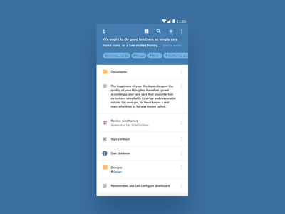 [WIP] Folder view