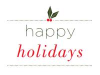 Simplistic Holiday Card