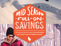 Bill & Paul's mid-winter clearance eblast