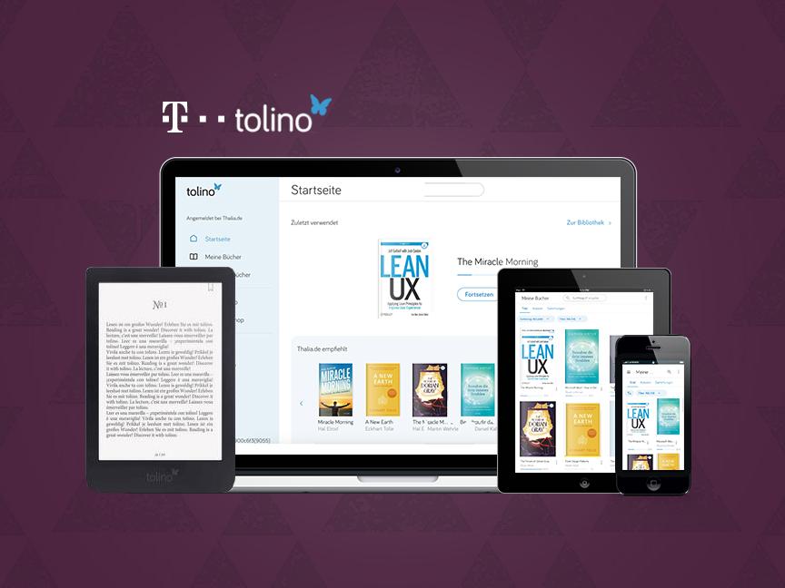 Deutsche Telekom - Tolino e-reader app eink android ios graphic design books e-reader deutsche telekom concepts ux design ui design redesign