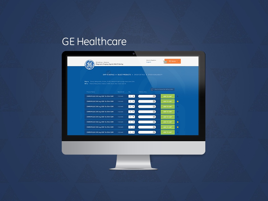 GE Healthcare – E-commerce hospitals graphic design ui design ux design blue ge healthcare ge ecommerce shop healthcare shop ecommerce