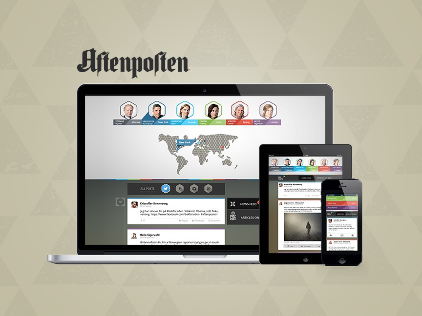 Schibsted Media Group – Aftenposten world user research user testing ux design graphic design responsive design social media facebook foreign correspondents newspaper schibsted
