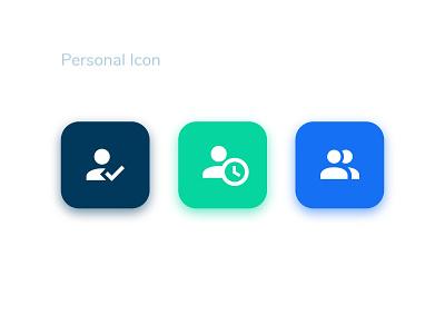Person icon vector ui illustration design branding app
