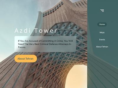 Azadi Tower graphic design logo web branding minimal icon illustration vector ui design