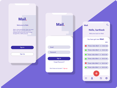 Mail Project website branding app website design web ux ui design