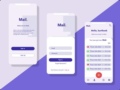 Mail Project website branding app website design web ux ui design