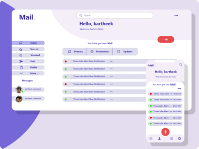 Mail Project website app website design web ux ui design
